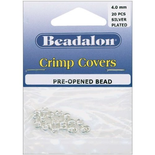 Beadalon Crimp Covers 4mm - Silver Plated (20 Per Package)