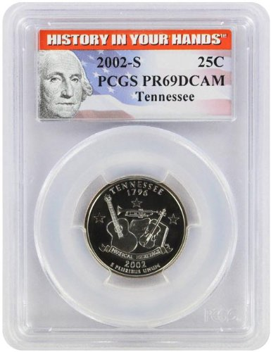 Tennessee State Coin (2002 Tennessee State S Clad Proof Quarter PR-69 PCGS)
