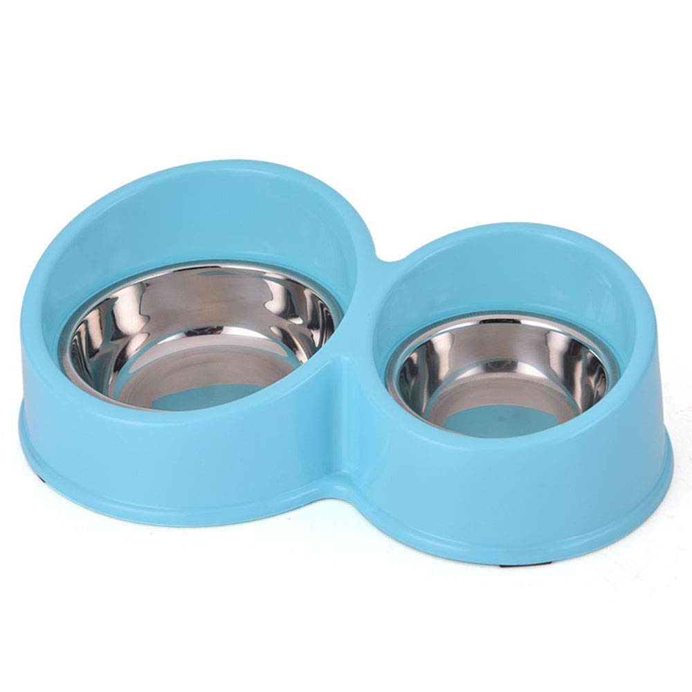 bluee Premium Stainless Steel Pet 2-in-1 Pet Hanging Bowl for Crates Cages Removable Stainless Steel Dog Bowl with Plastic for Pet Food and Water Feeder for Small Dogs Cats 3 colors (color   bluee)