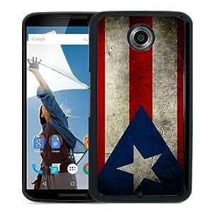 Popular Google Nexus 6 Case, Beautiful Designed Case With Puerto Rico Puerto Rican Flag Black Google Nexus 6 Cover