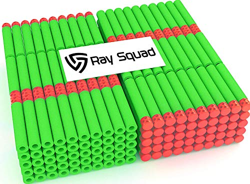 Ray Squad 150 Pack Waffle Darts Zombie Green with Red Tips by Compatible with N-Strike Elite Series Blasters
