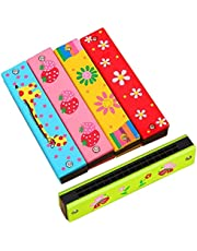 Harmonica 16 Holes Harmonica Double Row Harmonica Musical Instruments for Children Beginners Random Color Fashion Design