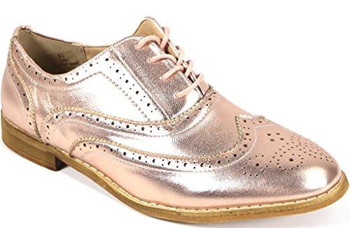 Bucco Womens Fashion Leather Oxford