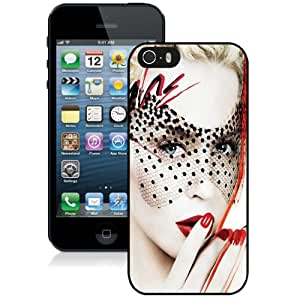 Beautiful Custom Designed Cover Case For iPhone 5s With Kylie Minogue Lace Mesh Mask Phone Case WANGJING JINDA