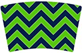 Mugzie brand Cocktail Shaker with Insulated Wetsuit Cover - Seattle Football Colors Chevron