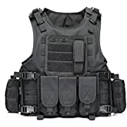 Yakeda Army Fans Tactical Vest Cs Field Swat Tactical Vest Army Fans Outdoor Vest Cs Game Vest Cosplay of Counter Strike Game Vest-322