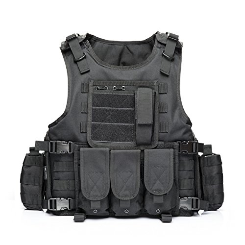 Magic Police Military - Yakeda® Army Fans Tactical Vest Cs Field Swat Tactical Vest Army Fans Outdoor Vest Cs Game Vest Cosplay of Counter Strike Game Vest-322