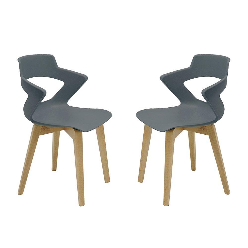 Set 2 sillas de Madera Estilo nórdico Zenith escandinava ...
