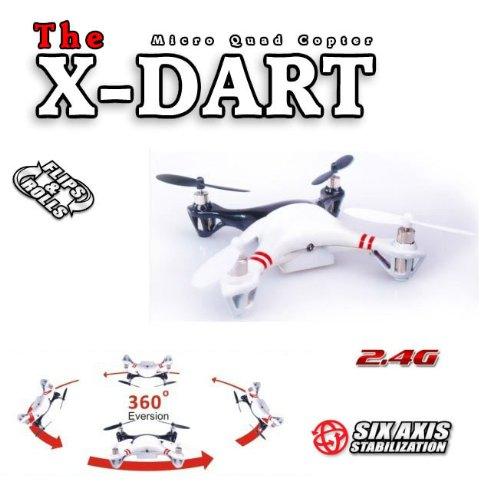 S-idee® 01170    01170 X-DART Quadcopter 4.5 Kanal 2,4 Ghz Quadrocopter RC ferngesteuerter Hubschrauber Helikopter Heli mit GYROSCOPE-TECHNIK + 2,4Ghz TECHNOLOGIE    für INNEN und AUSSEN brandneu mit eingebautem GYRO und 2.4 GHz Steuerung  FLUGFERTIG  fd0385