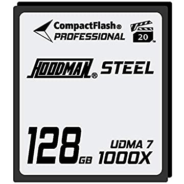 Image of Hoodman 128GB 1000x RAW Steel Class 7 CompactFlash High Speed Card Drawing