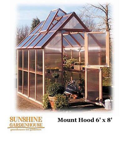 Sunshine GardenHouse, 6' Wide - 6' wide x 8' long (Greenhouses Sunshine)