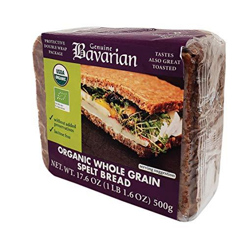 Genuine Bavarian ORGANIC Whole Grain Spelt Bread, 17.6oz (6 programs)