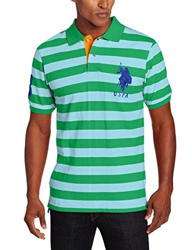 U.S. Polo Assn. Men's Two Color Bengal Stripe Pique Shirt...