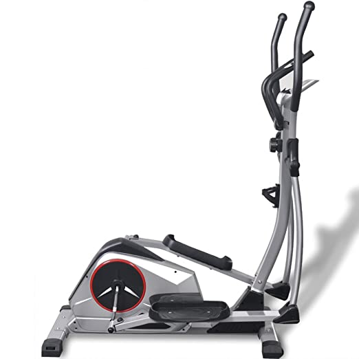 vidaXL Elliptical Trainer XL Magnetic Cross Trainer Silver - Cross Trainers (Magnetic Cross Trainer, 110 kg, Drive Duro/Ribbed Belt, Silver, 5 kg, ...