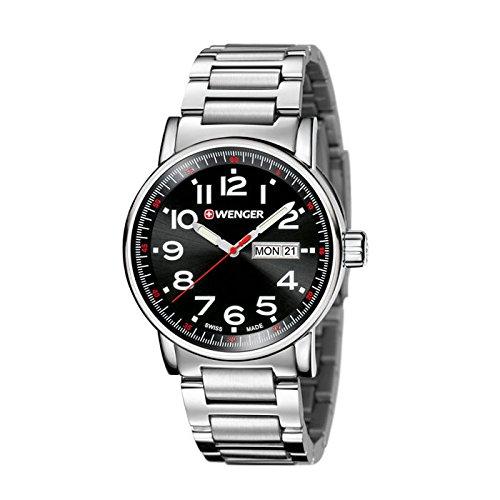 Wenger-Mens-Attitude-DayDate-Swiss-Quartz-Stainless-Steel-Casual-Watch