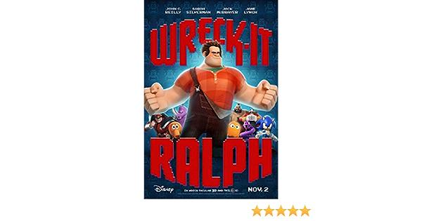Ralph Breaks The Internet 24x36 John Reilly v3 Wreck-It Ralph 2 Movie Poster