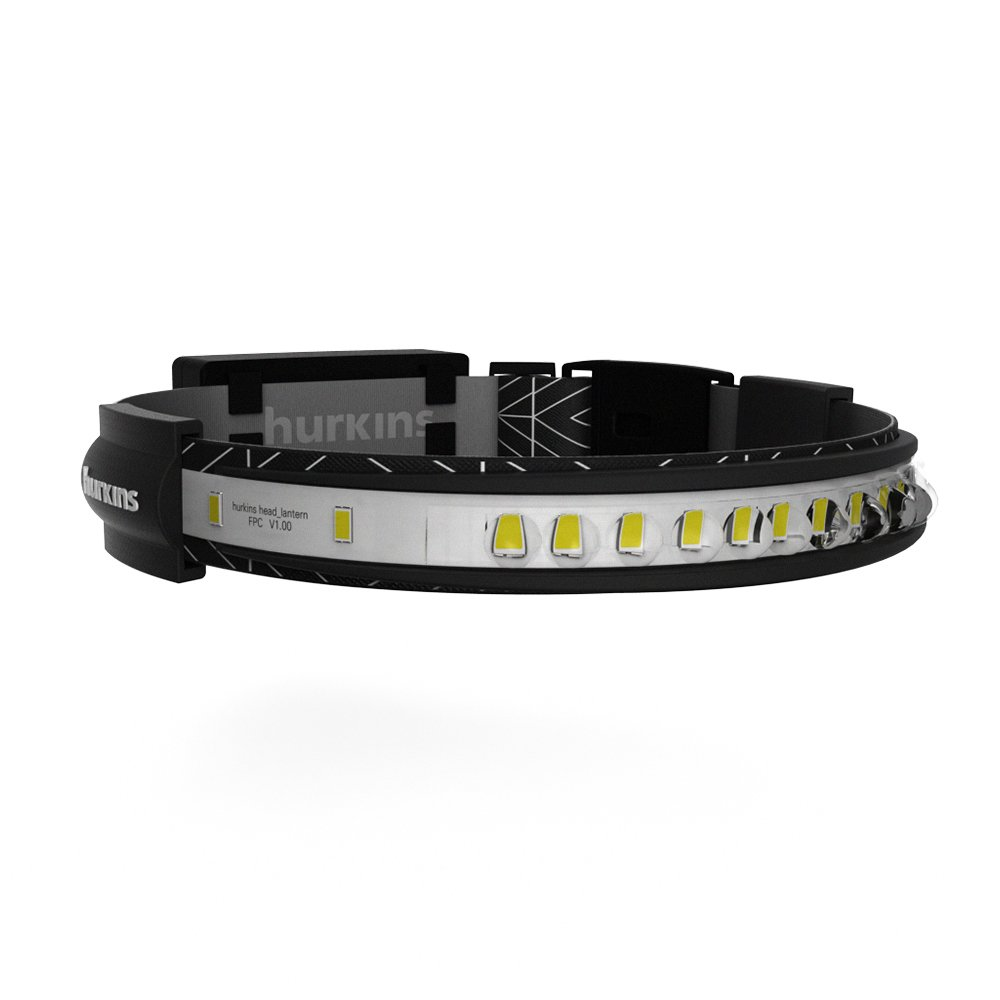 Hurkins Orbit, 180˚ Wide Angle 1000 Lumens Rechargeable Waterproof LED Headlamp. Great for Camping, Hunting, Runners, Hiking, Outdoors, Fishing,Industrial Purpose. by Hurkins