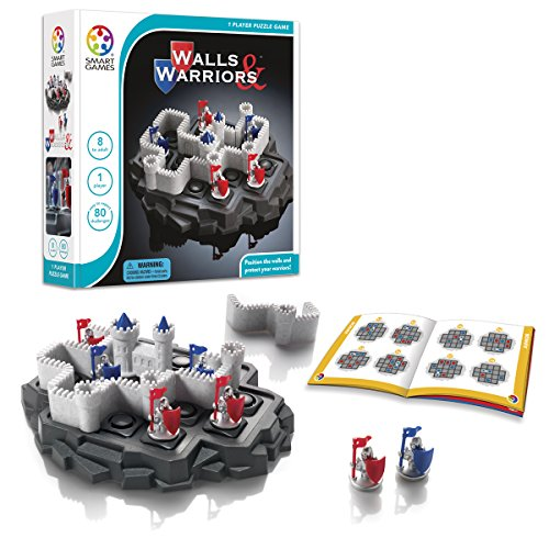 SmartGames Walls & Warriors Board Game, a Fun, STEM Focused Cognitive Skill-Building Brain Game and Puzzle Game for Ages 8 and Up