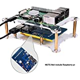 kuman for Raspberry Pi Lithium Battery Pack Expansion Board RPi Power Pack Power Supply+ USB Cable + 2 Layer Acrylic Board for Pi 3 2 Model B KY68C (Raspberry Pi Lithium Battery)