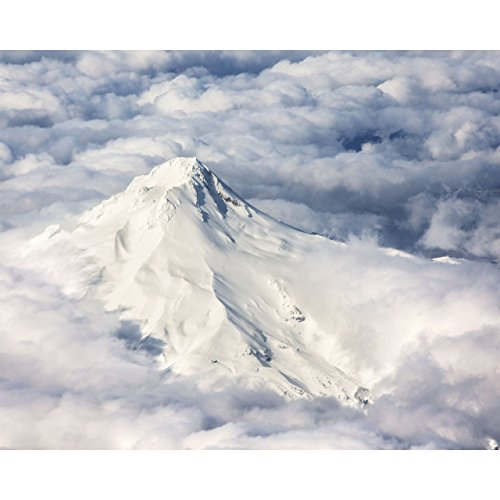 8x10 Mountain Photo -Mt. Hood Aerial by TravLin Photography