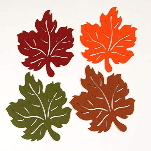 FLOMO Harvest Leaves Thanksgiving Felt Placemats