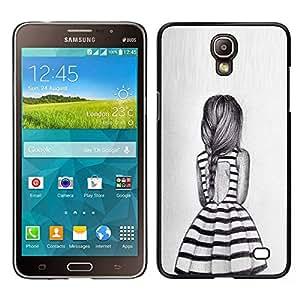 [Neutron-Star] Snap-on Series Teléfono Carcasa Funda Case Caso para Samsung Galaxy Mega 2 [Dress Summer Girl Ponytail Design Fashion]