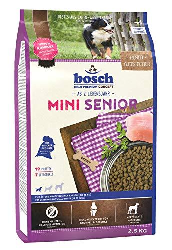 bosch HPC Mini Senior   Hundetrockenfutter für ältere Hunde kleiner Rassen (bis 15 kg)   1 x 2.5 kg