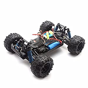 RC Car, 2.4Gh RC Racing Cars RTR 4WD High Speed Waterproof Electronics Monster Remote Control Truck Helicopter with An Extra 7.4V 850mAh Rechargeable Battery for Kids Adults
