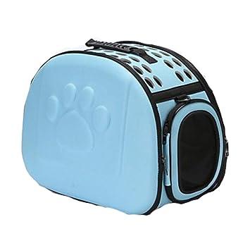 YAMEIJIA Perros/Conejos/Gatos Transportines Y Mochilas De Viaje Mascotas Portadores Portátil/Mini/Viaje Un Color Azul/Rosa/Negro,Blue: Amazon.es: Deportes y ...