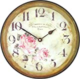 Roger Lascelles Floral Parisian Wall Clock, 10-Inch Review