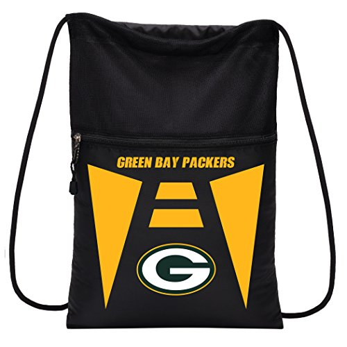 Officially Licensed NFL Green Bay Packers Team Tech Backpack Backsack, One Size