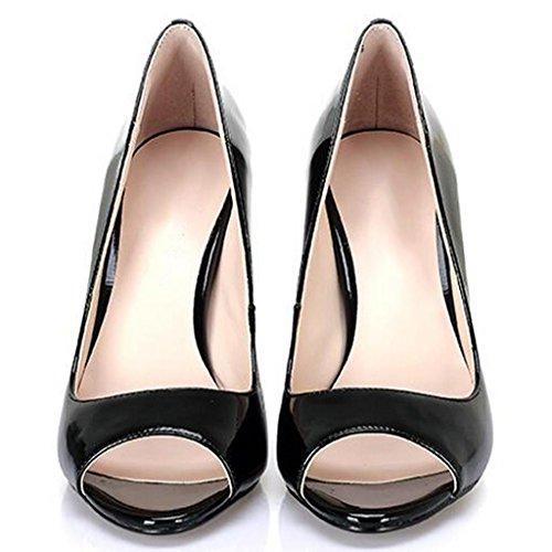 Black 12cm de Haut Talon Sandales Simples Ouvert Sandales de Chaussures Femmes Bouche Shallow LLP Poisson de Bout Professionnelles Femmes Chaussures des Bouche SxTwvTqR