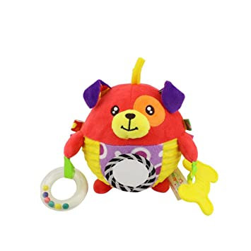 Pelota de juguete de bebé Red Dog con coloridas etiquetas ...