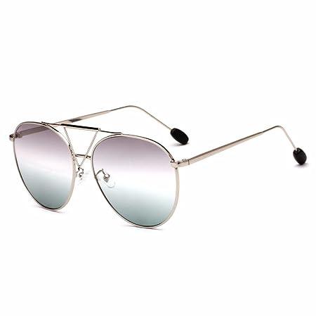 Aoligei Sonnenbrille Star mit großen Rahmen Sonnenbrillen Persönlichkeit invertiert dreieckige Metall Brillen 7LWZRYQ