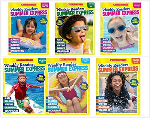 Seasons Weekly - Scholastic Weekly Reader-Summer Express Series Grade PreK through Grade 5 Complete Workbooks Set (6 Books)