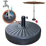 BenefitUSA Patio Umbrella Base Sand Water Filled 20' 28L Parasol Weight Sand Base Holder
