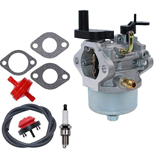 Euros 801396 Carburetor + Fuel Filter + Spark Plug + Primer Bulb for Briggs & Stratton 801233 801255 Snow Blower Thrower Toro R-TEK 2-Cycle Engines 084132 084133 084233 084332 084333