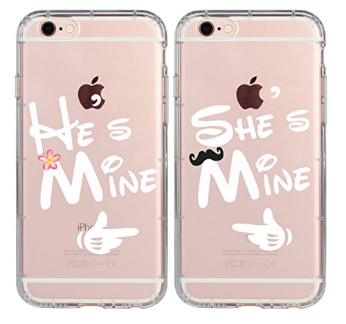 Couple Case for Girls,Cute Couples Things for Girlfriend Boyfriend,He's Mine She's Mine King Queen Couple Matching Case for Hubby Wiffy Wife Husband Love Quotes Case for iPhone X-She's Mine