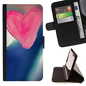 For HTC DESIRE 816 Case , Amor Amor rosado- la tarjeta de Crédito Slots PU Funda de cuero Monedero caso cubierta de piel