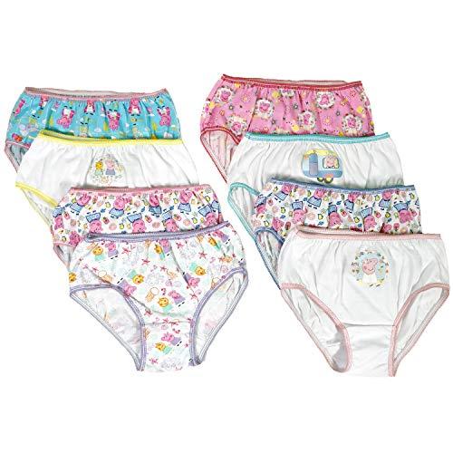 Peppa Pig Girls Panties Underwear - 8-Pack Toddler/Little Kid/Big Kid Size ()