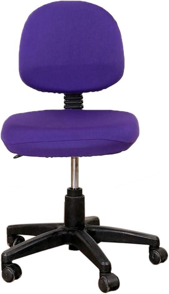 Fundas de asiento para silla de oficina o computadora de poli/éster extra/íbles el/ásticas lavables y antipolvo para silla de escritorio amarillo de licra