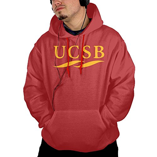 Price comparison product image QTHOO Men's Long Sleeve University of California Santa Barbara UCSB Logo Lightweight Hoodie with Pocket