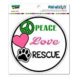 peace love cats decal - Peace Love Rescue - Adopt Animal Shelter Pet Dogs Cats Paw Print Circle MAG-NEATO'S™ Automotive Car Refrigerator Locker Vinyl Magnet
