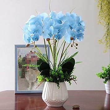QQ-AILHP Pu Künstliche Blumen Motte Orchidee Set Home Wohnzimmer ...