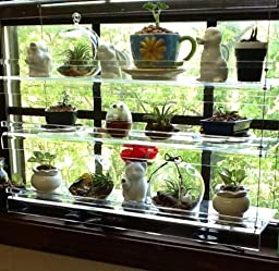 Hanging window plant shelves home kitchen - How to hang plants in front of windows ...