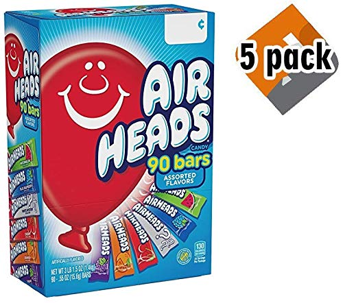 Airheads Bars, Chewy Fruit Candy, Easter Basket Stuffers, Variety Pack, Party, Non Melting, 90Count (Packaging May Vary), 5 Pack by Airheads (Image #5)