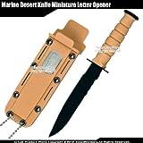 Etrading Small Marine Desert Combat Knife Replica Letter Opener Dagger w/Sheath & Chain