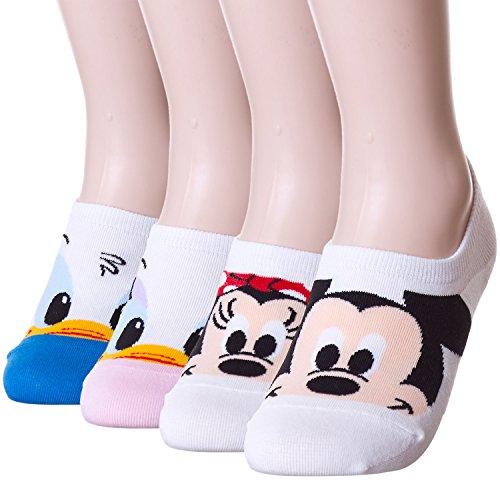 Baby Mickey Friends Low Cut Shoe Liner Hidden Socks Peds (4 Pairs)