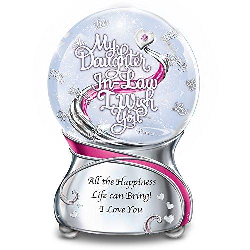 Musical Glitter Globe For Daughter In Law With Swarovski Crystal And Poem Card by The Bradford (Swarovski Globe)