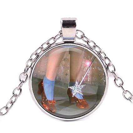 df1717cd29d Amazon.com: Ruby Slippers Pendant , Fairytale, Glass Pendant, Dome ...